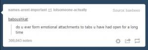 Tab attachment