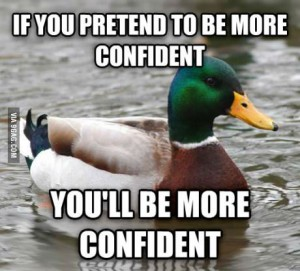 aam pretend confidence