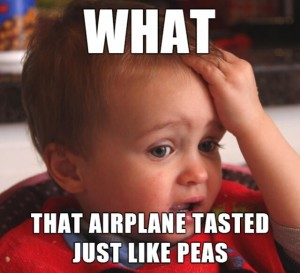 airplanes and peas