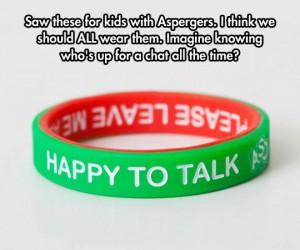 aspergers bracelet