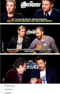 avengers interviews