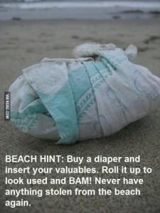 beach diaper