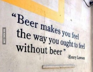 beer makes you feel