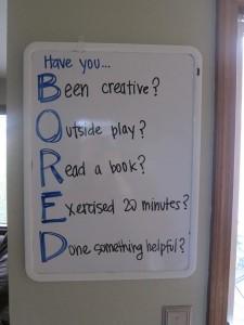 bored checklist