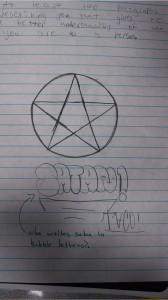 bubble letter satan