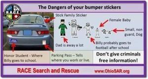 bumper sticker information