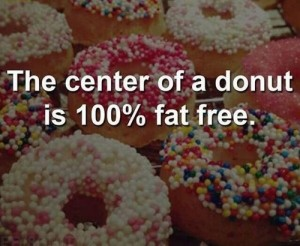 center of a donut is fat free