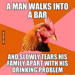 chicken man walks into a bar