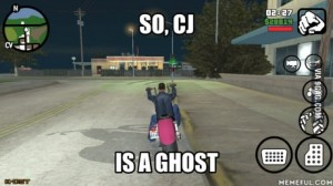 cj is a ghost