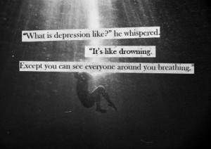 depression drowning