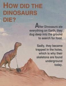 dinosaur holes