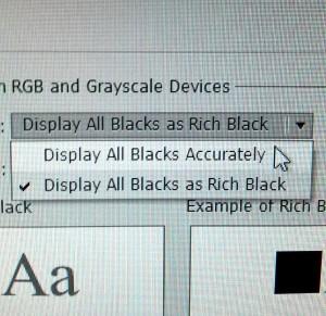 display all blacks