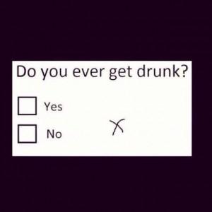 drunk questionnaire