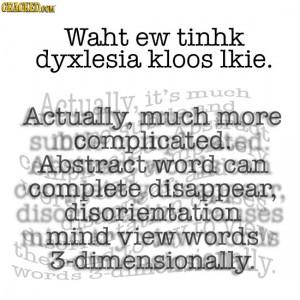 dyslexia representation