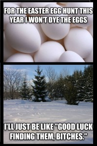 easter egg winter
