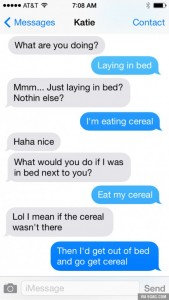eating cereal