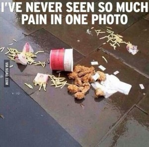 food spill pain