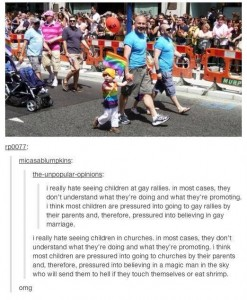 gay rally indoctrination