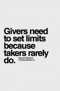 givers need limits