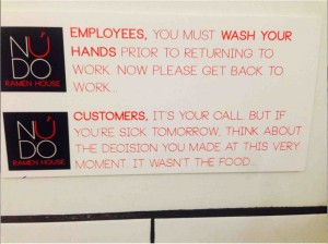 handwash warning