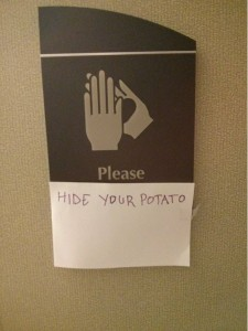 hide your potato
