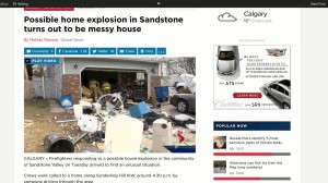 home explosion is a mess