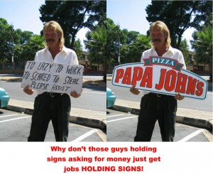 homeless sign jobs