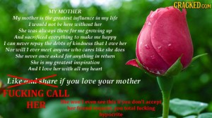 if you love your mother