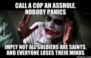 joker cops v soldiers