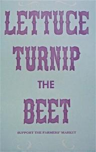 lettuce turnip