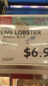 live lobster markdown