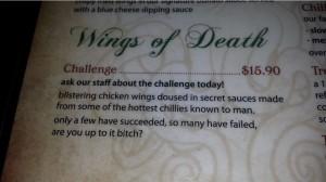 menu challenge