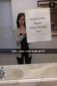 mirror under repair