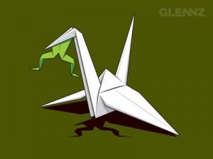 papercrane frog