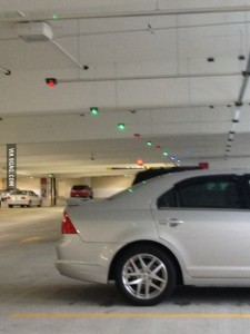 parking spot lights