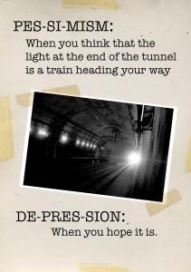 pessimism v depression