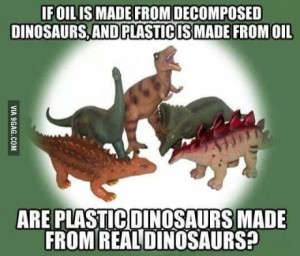 plastic dinosaurs from real dinosaurs
