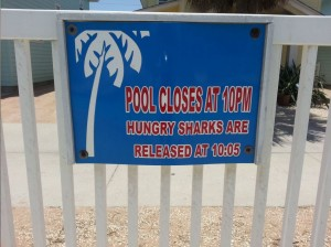 pool closing warning