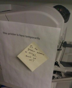 printer temporary