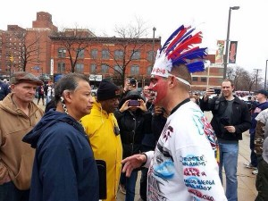 redskins confrontation