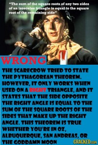 scarecrow is wrong