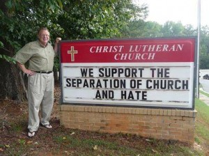 separation for church and hate