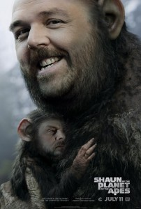 shaun of the planet of the apes