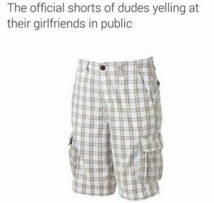 shorts of yelling