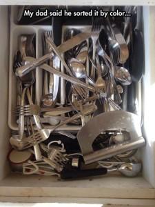 silverware by color