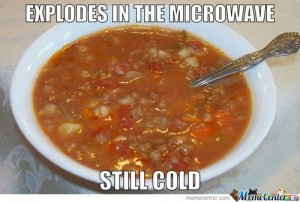 soup in microwave