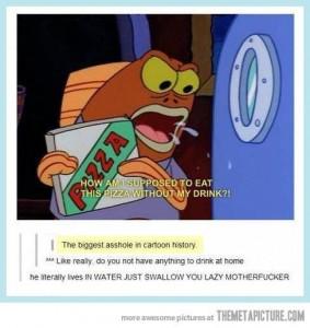 spongebob laziness