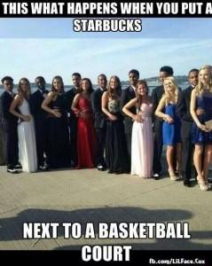 starbucks by basketball