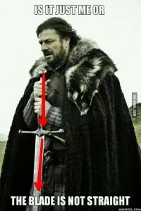 stark blade crooked