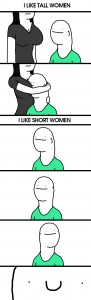 tall women and short women